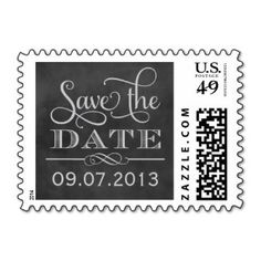 "I didn't even know you could order customized wedding ""Save the Date"" postage stamps!"