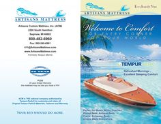 Brochures and past Advertisements Custom Mattress, Website Home Page, Yacht World, Brochure Cover, Magazine Ads, Advertising Campaign, Brochures, 20 Years, Hanging Out