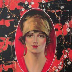 NEW Vintage Art Deco Print 1932 Calendar Girl Red by BogieBacall, $110.00