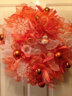 For sale: Univ of TN Vol's Christmas Wreath at Etsy: PinkSugarplumCottage