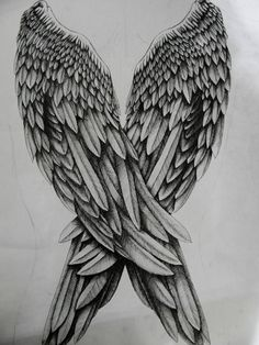 Angel Wings by Andy-DeviantArt on DeviantArt Wing Tattoo – Fashion Tattoos Future Tattoos, Love Tattoos, Beautiful Tattoos, New Tattoos, Body Art Tattoos, Dark Angel Wings, Angel Wings Drawing, Tattoo Angel Wings, Angel Wings Back Tattoo