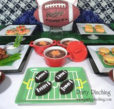 Super Bowl dessert table - yes, these are all desserts!