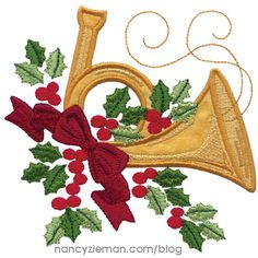 Creative Quilting Outlines-Charming Poinsettias by NancyZieman | Quilt and Embroidery