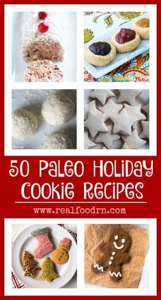 Paleo Holiday Cookie Recipes. Nobody should have to give up cookies during the holidays just because they decided to go grain free! Here is a collection of delicious Paleo holiday cookies that you can bring to all of your holiday parties and impress your guests! No one has to know they are healthy cookies! realfoodrn.com #holidaycookies #paleocookies