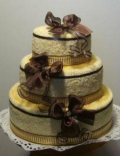 Торт из полотенец. Мастер классы + видео