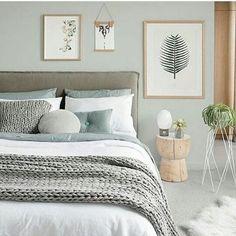 46 The Best Scandinavian Bedroom Interior Design Ideas : Schlafzimmer Ideen Natural Bedroom, Interior Design Bedroom, Stylish Bedroom, Bedroom Green, Bedroom Interior, Master Bedroom Colors, Modern Bedroom, Sage Green Bedroom, Stylish Bedroom Design