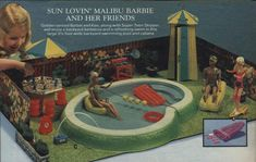 Malibu Barbie with Swimming Pool, BBQ from a 1979 catalog #vintage #1970s #toys