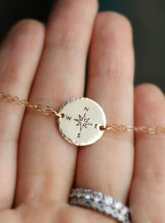 Compass Bracelet Traveler Bracelet Gold Compass by LRoseDesigns