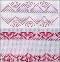 @ Swedish Embroidery, Types Of Embroidery, Embroidery Patterns, Hand Embroidery, Stitch Patterns, Needlepoint Stitches, Needlework, Couture Invisible, Swedish Weaving Patterns