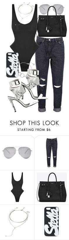"""Untitled #21277"" by florencia95 ❤ liked on Polyvore featuring Victoria Beckham, Boohoo, Norma Kamali, Yves Saint Laurent, Forever 21, STELLA McCARTNEY and Chupi"
