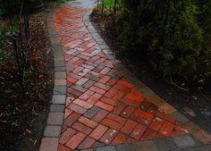 Brick Pathway  reclaimed brick
