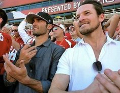 ian bohen and tyler hoechlin <3 the only way I would sit through a baseball game.