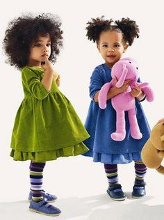 If I had granddaughters I would dress them just like this whether their dang mommy liked it or not.