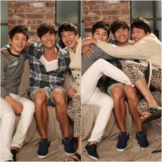 Three in a Bed (Song Joong Ki, Kim Jong Kook, and Lee Kwang Soo)