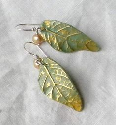 Leaves of Fall polymer clay earrings by pjlacasse on Etsy