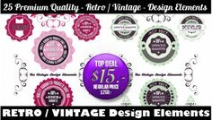 www.vectorcity.at25 pieces of RETRO / VINTAGE Labels / Design Elements