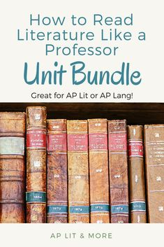 """This resource contains full materials for a 10 day unit or 26 mini-lessons guiding through Thomas C. Foster's """"How to Read Literature Like a Professor."""" This is a great resource for AP Lit or AP Lang! British Literature, English Literature, Ap 12, Ap Test, Writing Classes, Teaching Strategies, Teaching Ideas, Ap English, English Language"""