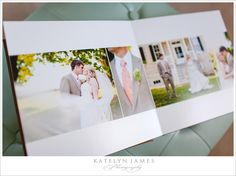 Great examples of square album wedding layout designs... clean, and simple, and lots of white space... love these!