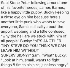 That is so true I never realized Bucky being the brother peter never had, we better freakin see this in Avengers 4 or I'm suing! Funny Marvel Memes, Marvel Jokes, Avengers Memes, Marvel Dc Comics, Marvel Avengers, Avengers Imagines, Avengers Cast, Tom Holland, Dc Movies