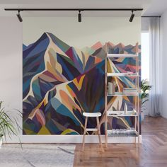 Give Your Home a Bold Accent Wall with New Peel + Stick Wall Murals. accent walls, Give Your Home a Bold Accent Wall with New Peel + Stick Wall Murals - Design Milk Bedroom Murals, Diy Bedroom, Metal Tree, Art Mural, Wall Mural Decals, Wall Sticker, Paint Designs, Home Accents, Wall Accents