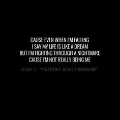 """• Jessie J - """"You Don't Really Know Me"""""""