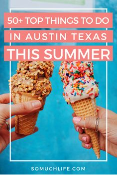 More than 50 ideas of things to do in Austin in the summer: 2019 edition! Top Austin activities, swimming holes, concerts, food festivals, and more! Visiting Austin Texas, Visit Austin, Austin Activities, Summer Activities, Summer Fun, Summer Ideas, Texas Swimming Holes, Movie In The Park, Austin City Limits