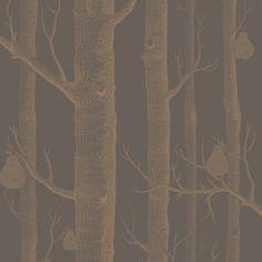 Cole & Son WOODS & PEARS BRONZE/BLACK Wallpaper