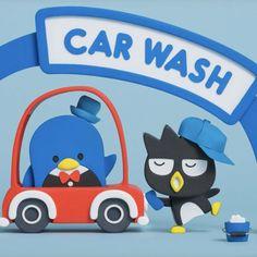 Sam et Badtz-maru Pochacco, Kawaii, Sanrio Characters, Little Twin Stars, Car Wash, Cute Illustration, Social Platform, Toy Chest, Hello Kitty