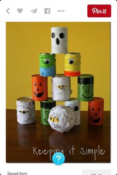 Halloween tin game - this would be great for a fall festival!