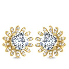 Floral Solitaire Earring solitaire earring Diamond Solitaire Earrings, Jewels, Engagement Rings, Floral, Enagement Rings, Wedding Rings, Jewerly, Flowers, Diamond Engagement Rings
