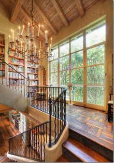This is the type of house you could grab a blanket and pillow and curl up anywhere to read!