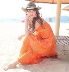 Bohemian Style Maxi Beach Dress