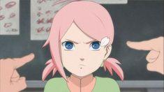 The Daughter of NaruSaku Couple♥♥♥ Naruto Kakashi, Naruto Girls, Anime Naruto, Anime Oc, Naruto Art, Gaara, Sakura Haruno, Naruto Sasuke Sakura, Naruto Oc Characters