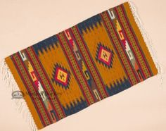 """Southwest Zapotec Mexican Rug 23""""""""x39"""""""" (93)"""