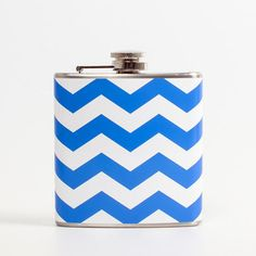 Chevron Flask Blue, $15, now featured on Fab.