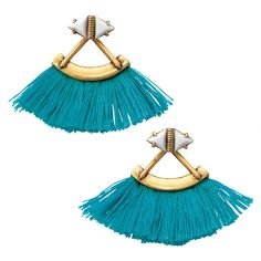 Stella & Dot Lotus Tassel Chandeliers found on Polyvore featuring jewelry, earrings, colorful earrings, vintage earrings, tassle earrings, multi color stud earrings and tri color earrings