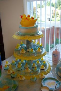 duck baby shower | Ducky Themed Baby Shower Cake | Flickr - Photo Sharing!