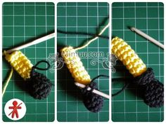 Amigurumi minions Stuart, paso a paso en español Minion Crochet Patterns, Minion Pattern, Crochet Flower Patterns, Crochet Doll Pattern, Crochet Bunny, Crochet Dolls, Minions Bob, Crochet Wreath, Crochet Monsters