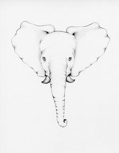 Kids Wall Art Baby Elephant Drawing by ABitofWhimsyArt on Etsy, $30.00