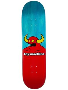 Toy Machine Monster Turquoise Deck x 32 Skateboard Design, Skateboard Decks, Skate Longboard, Skateboard Companies, Skate Decks, Surf, Skateboards, Childhood, Vans