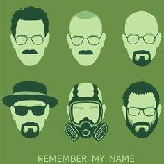 """All Hail Heisenberg!"" by olly aka oliviero The many faces of Walt White. Inspired by Breaking Bad Breaking Bad Party, History Instagram, Breking Bad, Funny Tee Shirts, T Shirt, Crime, Joker Poster, Heisenberg, Walter White"