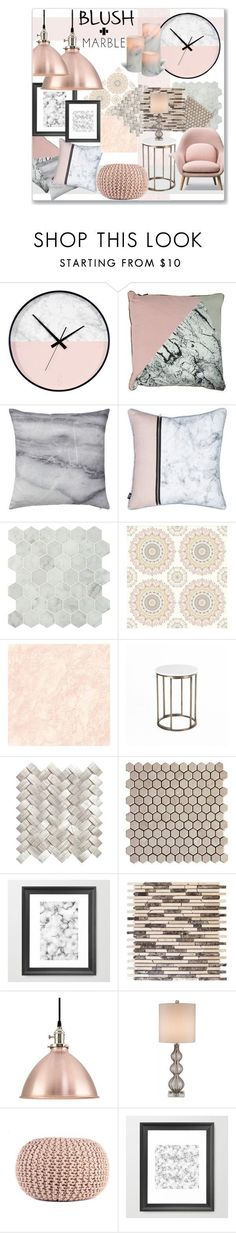 """SOFT and Sleek"" by jckallan ❤️ liked on Polyvore featuring interior, interiors, interior design, home, home decor, interior decorating, Bloomingville, Brewster Home Fashions, Currey & Company and homedecor"