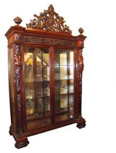 543:RJ HORNER MAN IN THE MOUNTAIN CHINA / BOOKCASE 1577 : Lot 543 starting bid $5000 BC