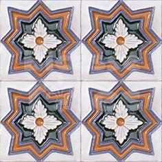 AVK6001 Antique Arab enameled tiles 10cm