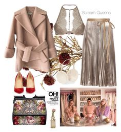 """""""Pink Lady"""" by stylesmanda on Polyvore featuring Carven, Agent Provocateur, Chanel, Christian Louboutin, Dolce&Gabbana, Valentino, Accessorize and Cultural Intrigue"""