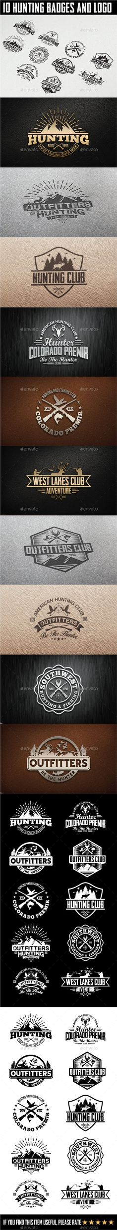 10 Hunting Vintage Badges and Logos #logos #badges Download: http://graphicriver.net/item/10-hunting-vintage-badges-and-logos/11560070?ref=ksioks