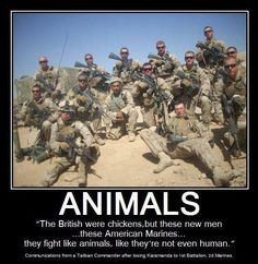 Love Our Marines! And so, the Taliban find out, the Hard Way, that Allah DOES abandon his warriors. Military Quotes, Military Humor, Military Life, Military History, Once A Marine, My Marine, Us Marine Corps, Usmc, Marines