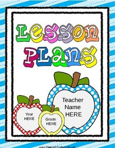FREE Editable Lesson Plan Template
