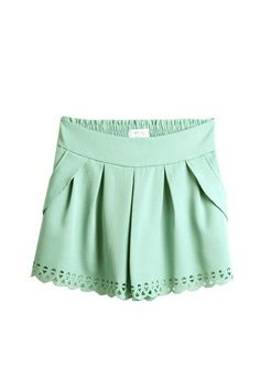 Mint Cut Out Shorts