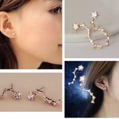New 1 Pair Korean Star Rhinestone Earring Stud